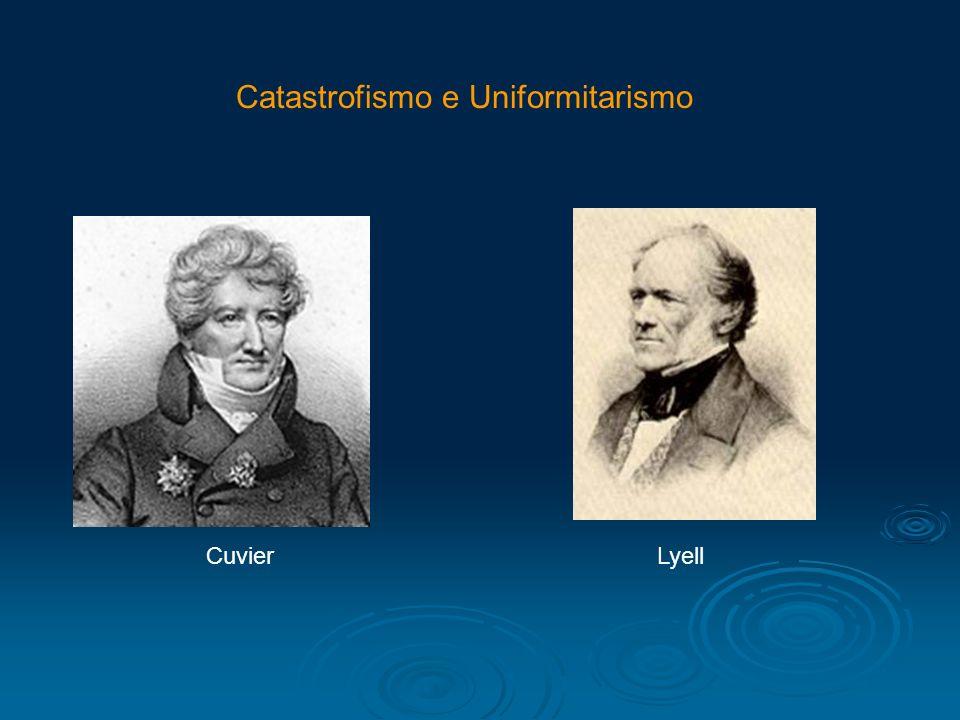 Catastrofismo e Uniformitarismo CuvierLyell