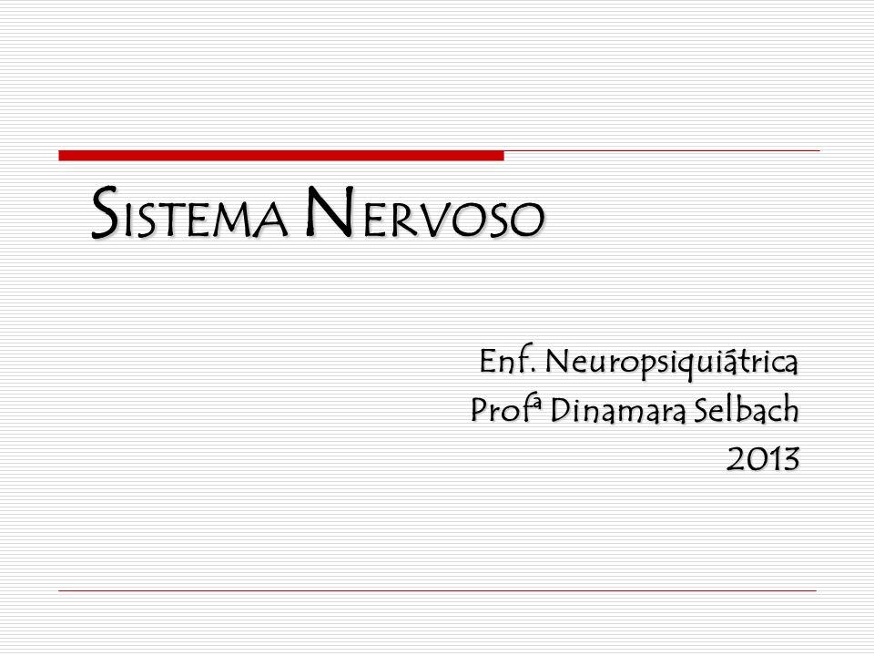 S ISTEMA N ERVOSO Enf. Neuropsiquiátrica Profª Dinamara Selbach 2013