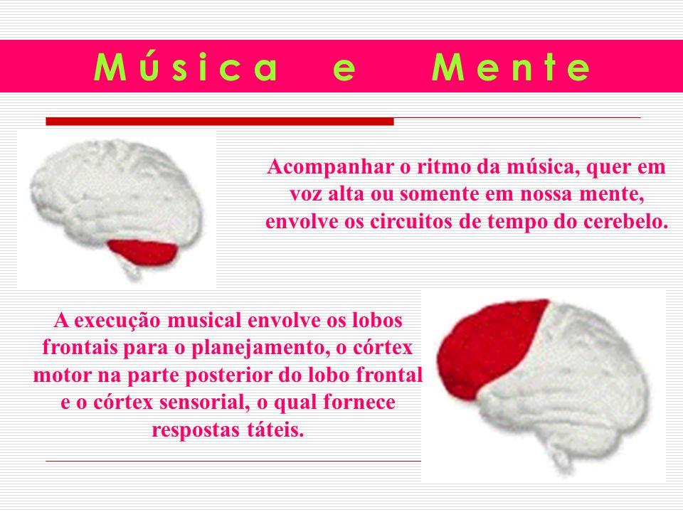 Acompanhar o ritmo da música, quer em voz alta ou somente em nossa mente, envolve os circuitos de tempo do cerebelo.