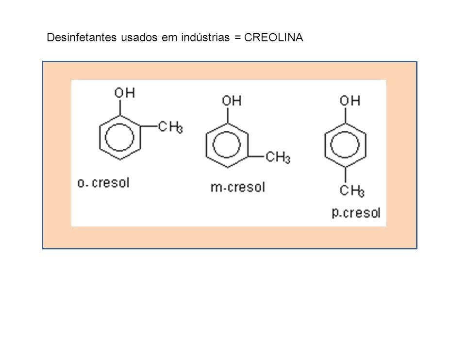Desinfetantes usados em indústrias = CREOLINA
