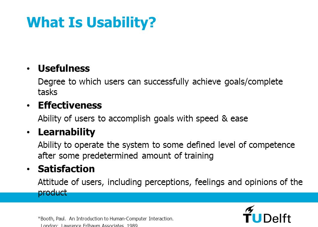 What means usability to us ? 1