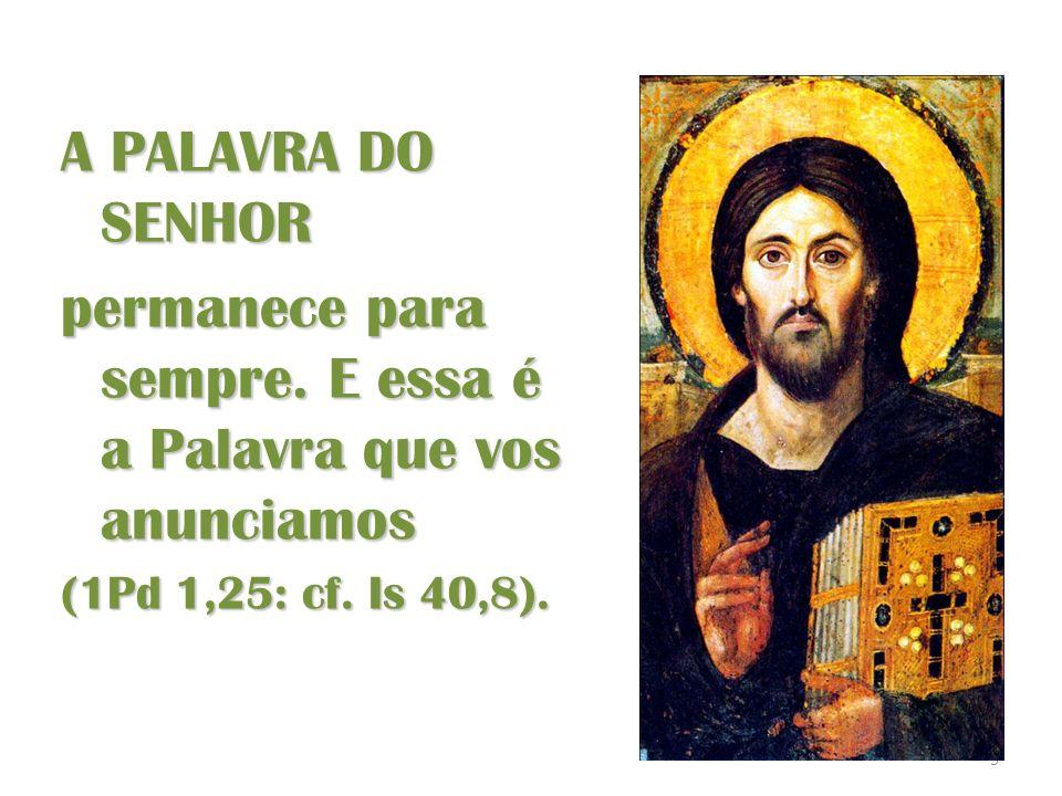 16 VERBUM DEI No princípio era a Palavra,e a palavra estava junto a Deus,e a Palavra era Deus...e a Palavra se fez carne (Jo 1 1.14) A quantos, porém, a acolheram, deu- lhes poder de se tornarem filhos de Deus (Jo 1,12) Ninguém jamais viu a Deus; o Filho único, que é Deus e está na intimidade do Pai, foi quem o deu a conhecer (Jo 1,18) VERBUM IN ECCLESIA VERBUM MUNDO PALAVRA PARA O MUNDO PALAVRA NA IGREJA PALAVRA DE DEUS VOZ - ROSTO CASACAMINHOS