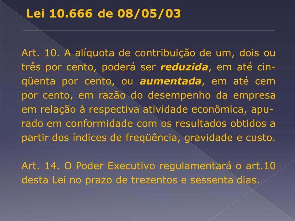 Lei 10.666 de 08/05/03 Art. 10.