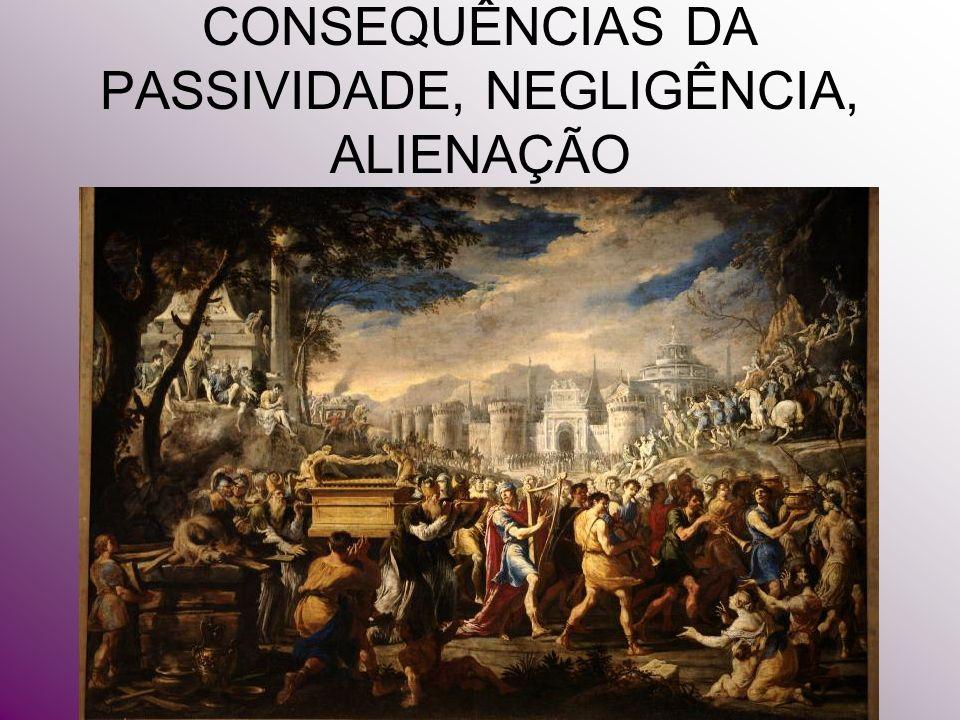 CONSEQUÊNCIAS DA PASSIVIDADE, NEGLIGÊNCIA, ALIENAÇÃO