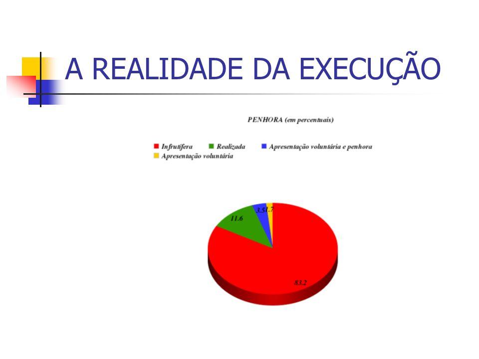 A REALIDADE DA EXECUÇÃO