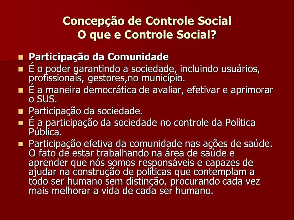 Concepção de Controle Social O que e Controle Social.