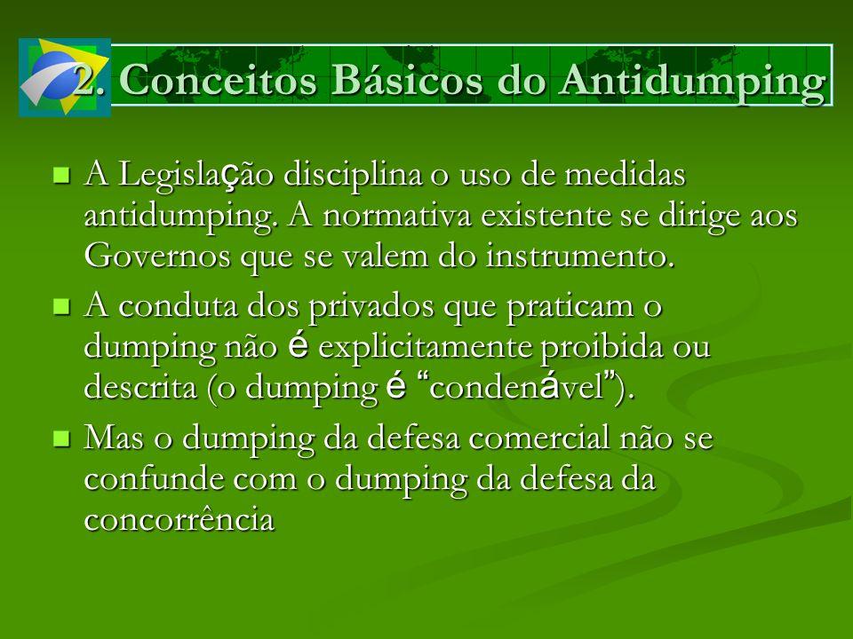 A Legisla ç ão disciplina o uso de medidas antidumping. A normativa existente se dirige aos Governos que se valem do instrumento. A Legisla ç ão disci