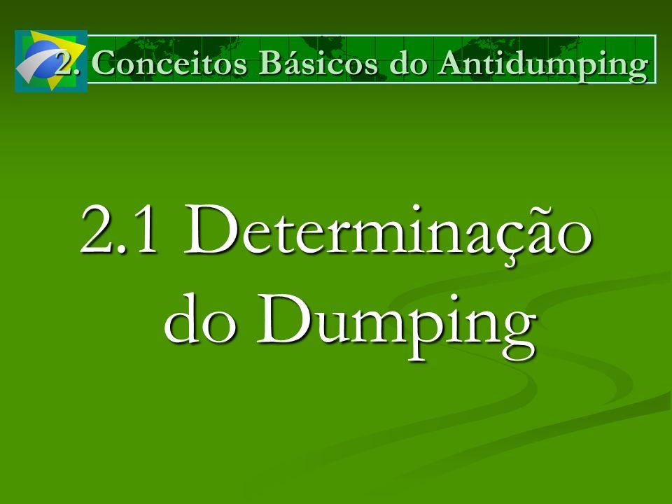 2. Conceitos Básicos do Antidumping 2.1 Determinação do Dumping