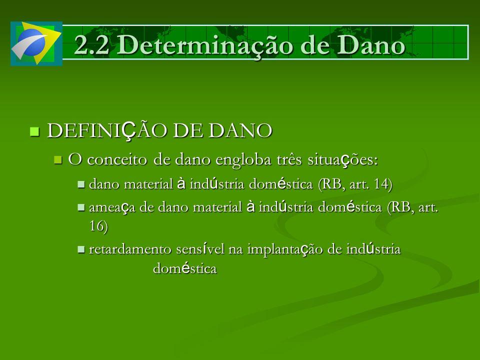 2.2 Determinação de Dano DEFINI Ç ÃO DE DANO DEFINI Ç ÃO DE DANO O conceito de dano engloba três situa ç ões: O conceito de dano engloba três situa ç