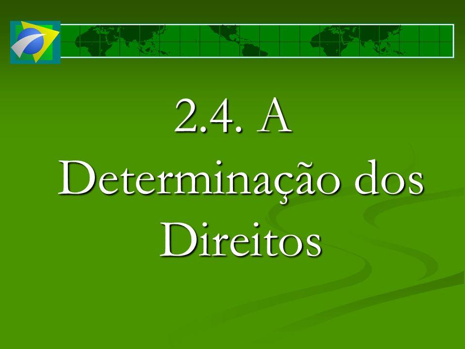 2.4. A Determinação dos Direitos