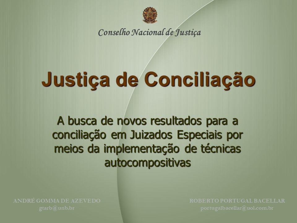 Justiça de Conciliação A busca de novos resultados para a conciliação em Juizados Especiais por meios da implementação de técnicas autocompositivas A