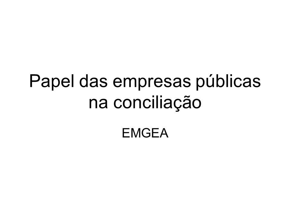 Papel das empresas públicas na conciliação EMGEA