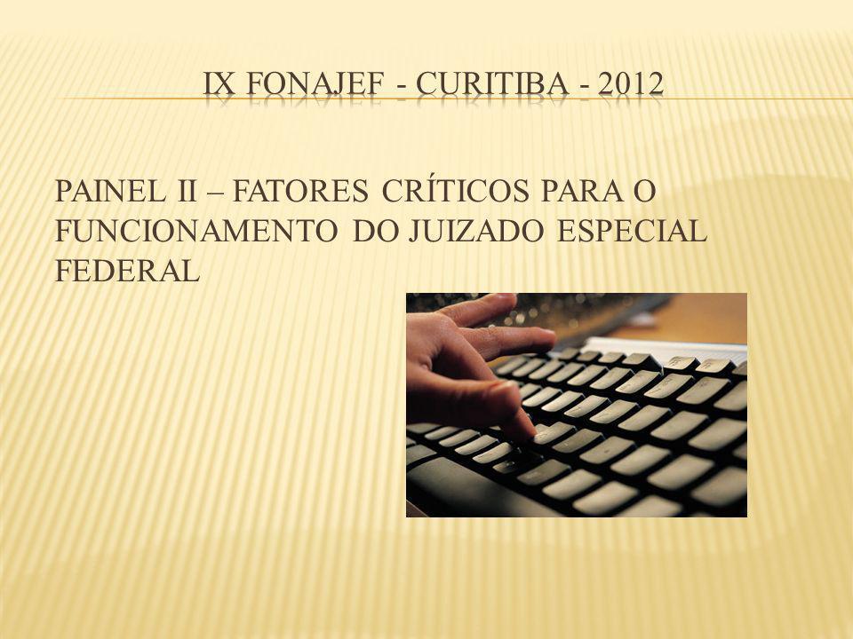 PAINEL II – FATORES CRÍTICOS PARA O FUNCIONAMENTO DO JUIZADO ESPECIAL FEDERAL