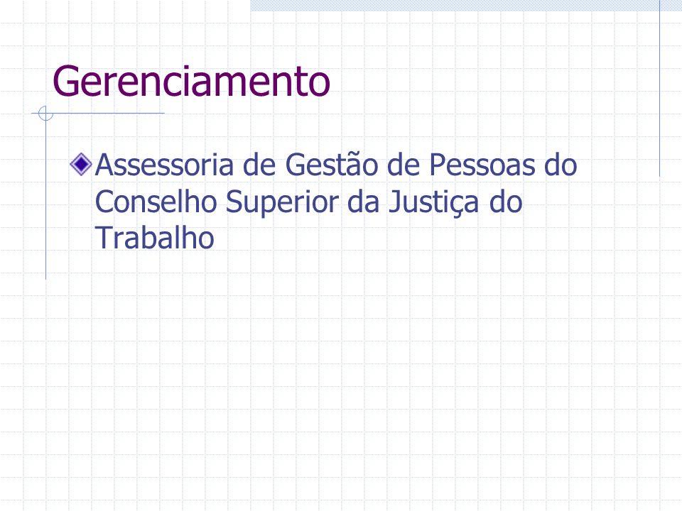 Gerenciamento Assessoria de Gestão de Pessoas do Conselho Superior da Justiça do Trabalho