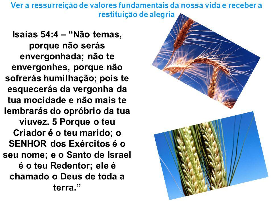 Isaías 54:4 – Não temas, porque não serás envergonhada; não te envergonhes, porque não sofrerás humilhação; pois te esquecerás da vergonha da tua moci