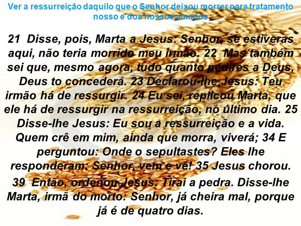 21 Disse, pois, Marta a Jesus: Senhor, se estiveras aqui, não teria morrido meu irmão. 22 Mas também sei que, mesmo agora, tudo quanto pedires a Deus,