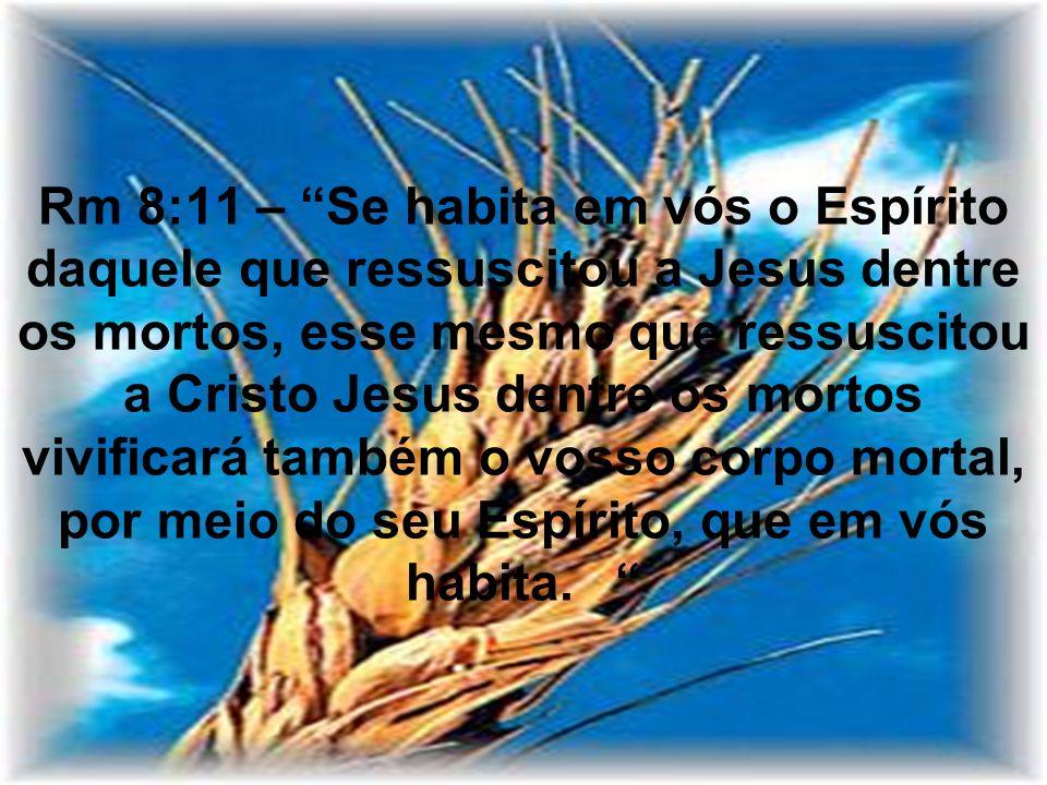 Rm 8:11 – Se habita em vós o Espírito daquele que ressuscitou a Jesus dentre os mortos, esse mesmo que ressuscitou a Cristo Jesus dentre os mortos viv
