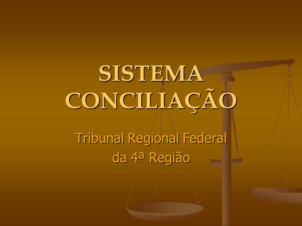 SISTEMA CONCILIAÇÃO Tribunal Regional Federal da 4ª Região