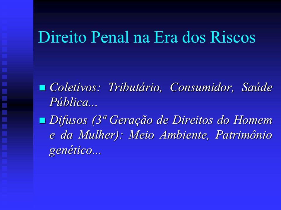 Direito Penal na Era dos Riscos Coletivos: Tributário, Consumidor, Saúde Pública... Coletivos: Tributário, Consumidor, Saúde Pública... Difusos (3ª Ge