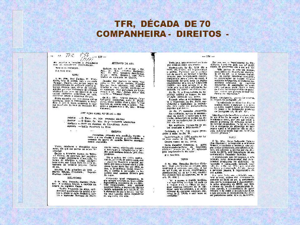 TFR, DÉCADA DE 70 COMPANHEIRA - DIREITOS -