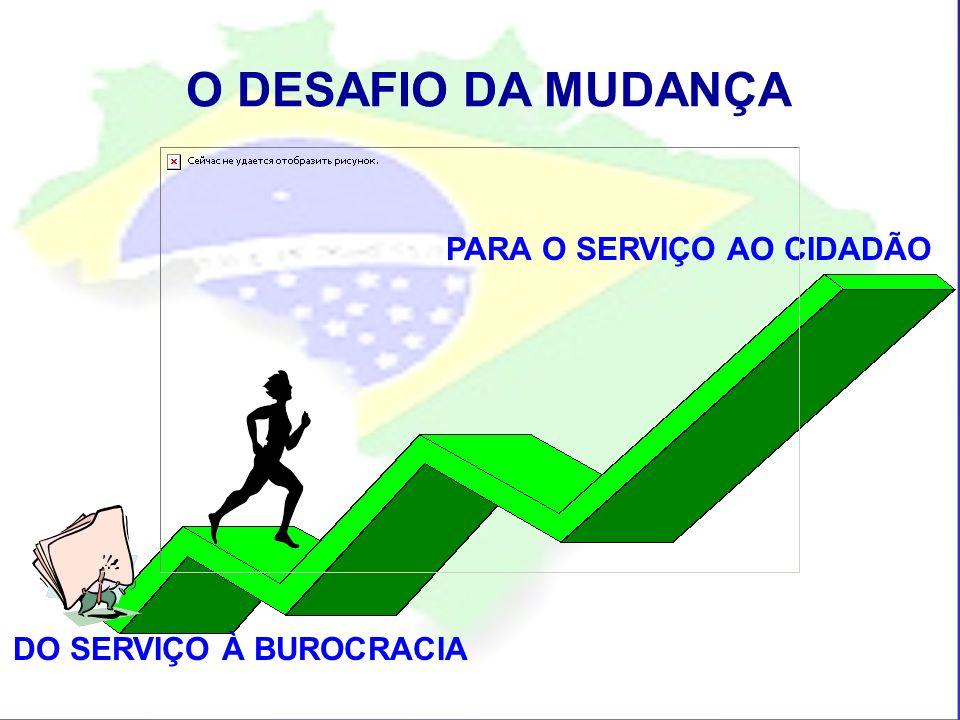 O DESAFIO DA MUDANÇA DO SERVIÇO À BUROCRACIA PARA O SERVIÇO AO CIDADÃO