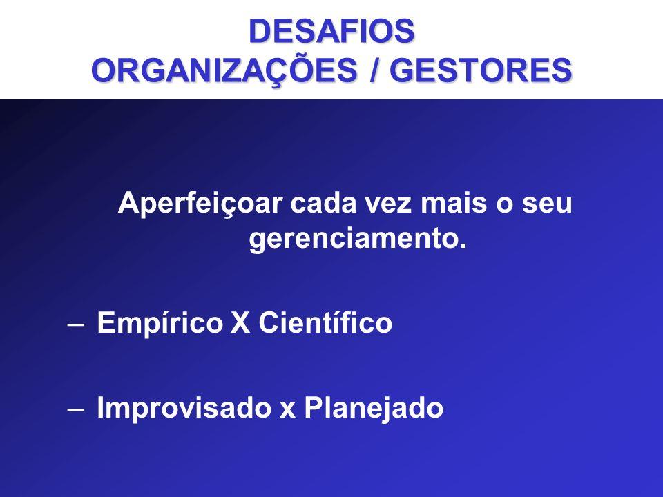 São os sinalizadores dos aspectos da atuação organizacional em que o êxito é fundamental para o cumprimento das estratégias.