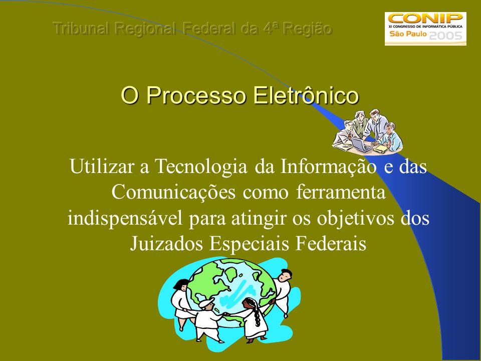 O Processo Eletrônico Utilizar a Tecnologia da Informação e das Comunicações como ferramenta indispensável para atingir os objetivos dos Juizados Espe