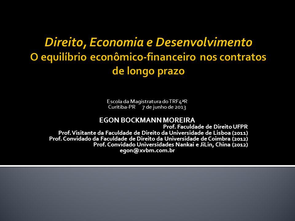 Escola da Magistratura do TRF4ªR Curitiba-PR 7 de junho de 2013 EGON BOCKMANN MOREIRA Prof.