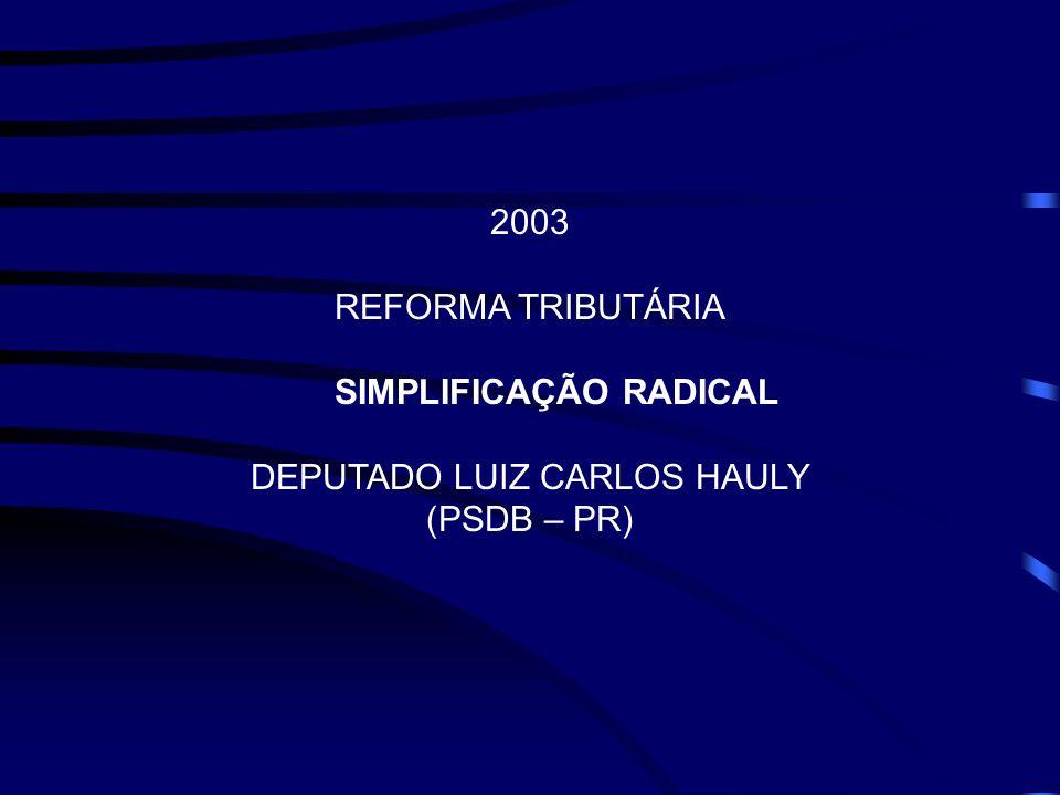 O NÓ DO DESENVOLVIMENTO BRASILEIRO CRESCIMENTO DA CARGA TRIBUTÁRIA (1988/2002) CRESCIMENTO DO PIB (1988/2002)