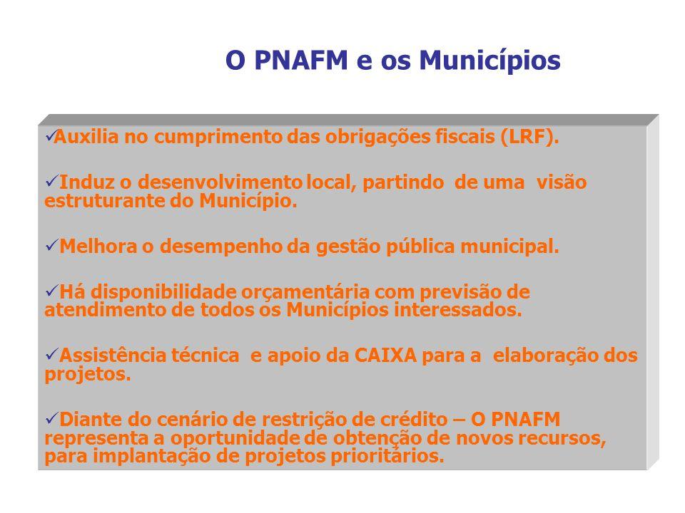 Auxilia no cumprimento das obrigações fiscais (LRF). Induz o desenvolvimento local, partindo de uma visão estruturante do Município. Melhora o desempe