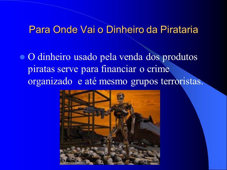 Para Onde Vai o Dinheiro da Pirataria O dinheiro usado pela venda dos produtos piratas serve para financiar o crime organizado e até mesmo grupos terr