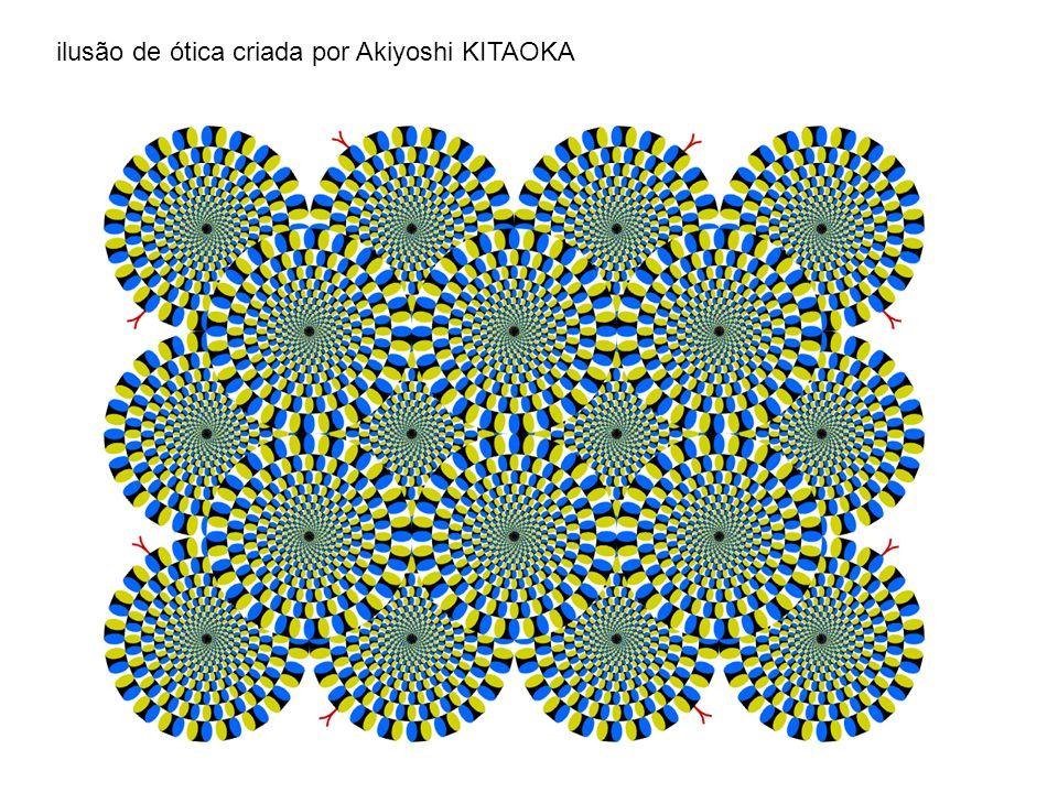 ilusão de ótica criada por Akiyoshi KITAOKA