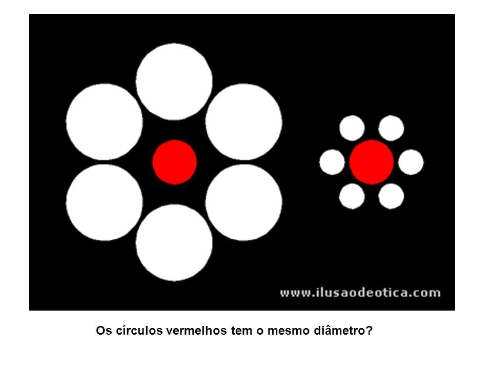 Os círculos vermelhos tem o mesmo diâmetro?