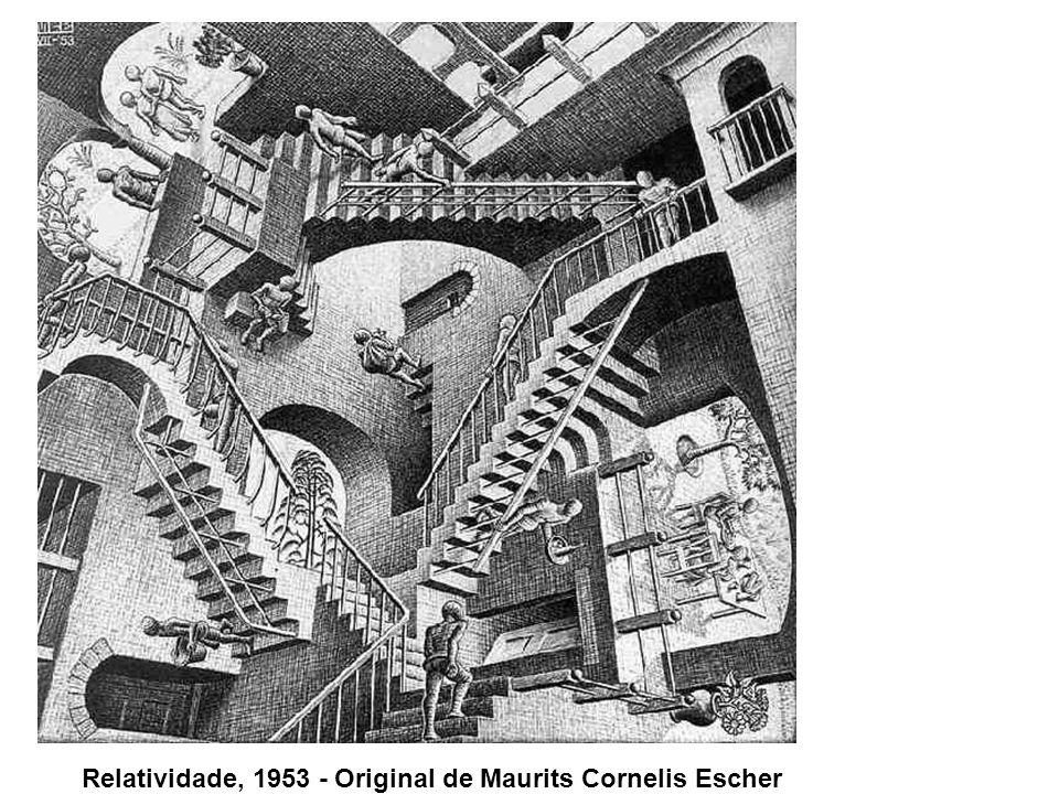 Relatividade, 1953 - Original de Maurits Cornelis Escher