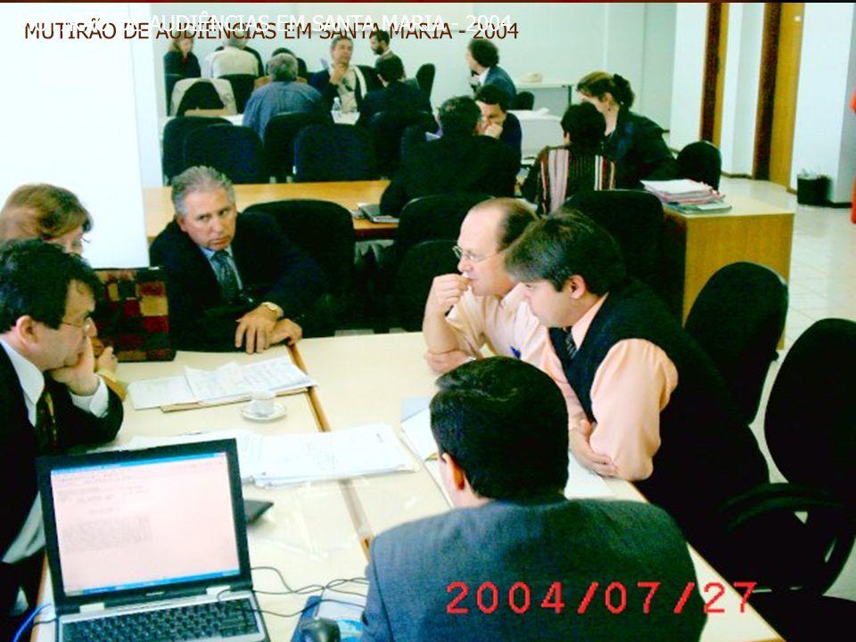 MUTIRÃO DE AUDIÊNCIAS EM SANTA MARIA - 2004