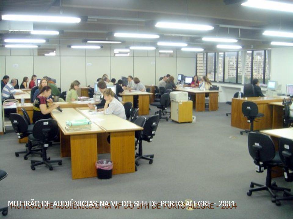 MUTIRÃO DE AUDIÊNICIAS NA VF DO SFH DE PORTO ALEGRE - 2004