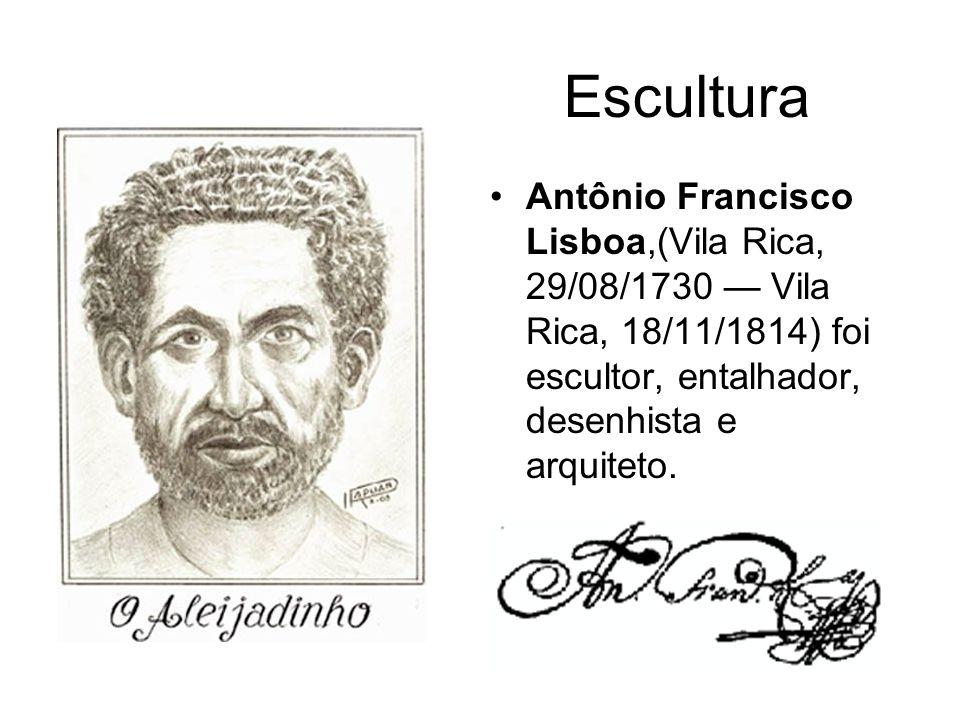 Escultura Antônio Francisco Lisboa,(Vila Rica, 29/08/1730 Vila Rica, 18/11/1814) foi escultor, entalhador, desenhista e arquiteto.