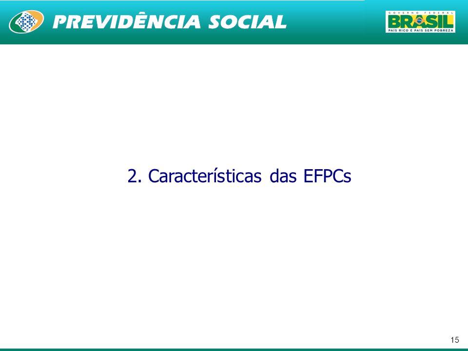 15 2. Características das EFPCs