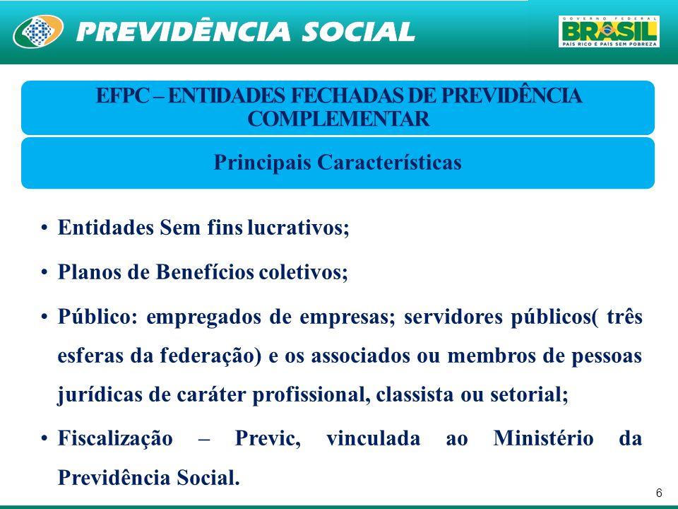 7 CARACTERÍSTICAS REGIME DE PREVIDÊNCIA PRIVADA (EC nº 20, de 1998 – art.