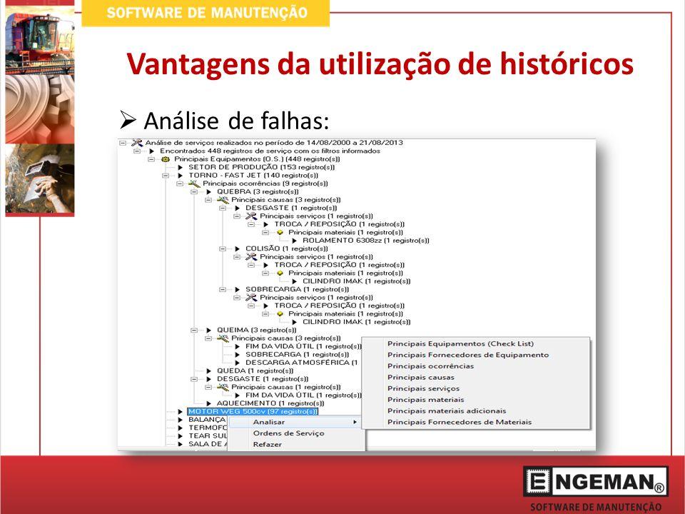 Análise de falhas: Vantagens da utilização de históricos