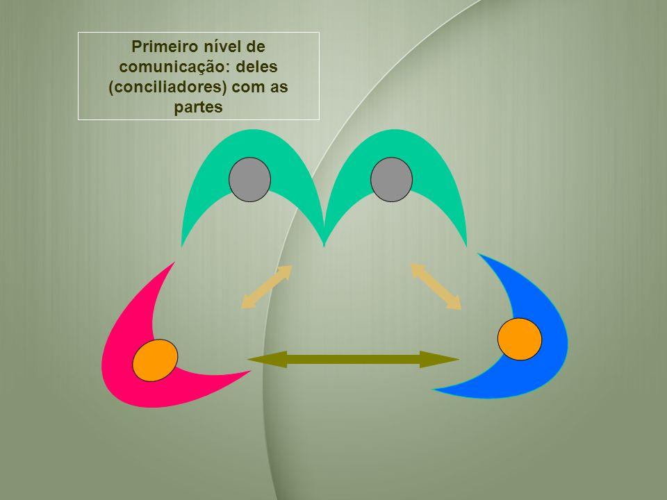 Primeiro nível de comunicação: deles (conciliadores) com as partes