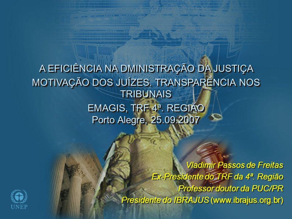 BRASIL (ANTES E DEPOIS DA REFORMA DO JUDICIÁRIO) RUIM : ESTUDO NÃO FAZ PARTE DO CURRÍCULO DAS FACULDADES DE DIREITO RUIM : ESTUDO NÃO FAZ PARTE DO CURRÍCULO DAS FACULDADES DE DIREITO FALTA DE PLANEJAMENTO ESTRATÉGICO (A CADA 2 ANOS...) FALTA DE PLANEJAMENTO ESTRATÉGICO (A CADA 2 ANOS...) AUSÊNCIA DE PROFISSIONALISMO (BACHARÉIS EM DIREITO...