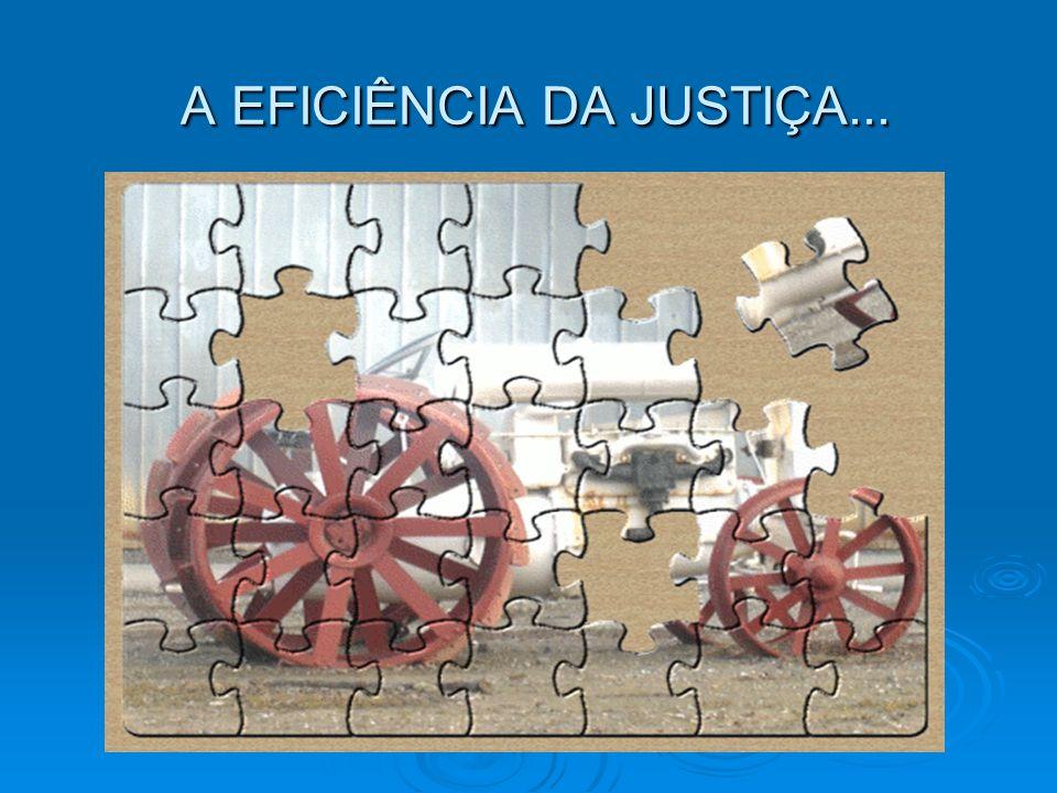 A EFICIÊNCIA DA JUSTIÇA... A EFICIÊNCIA DA JUSTIÇA...