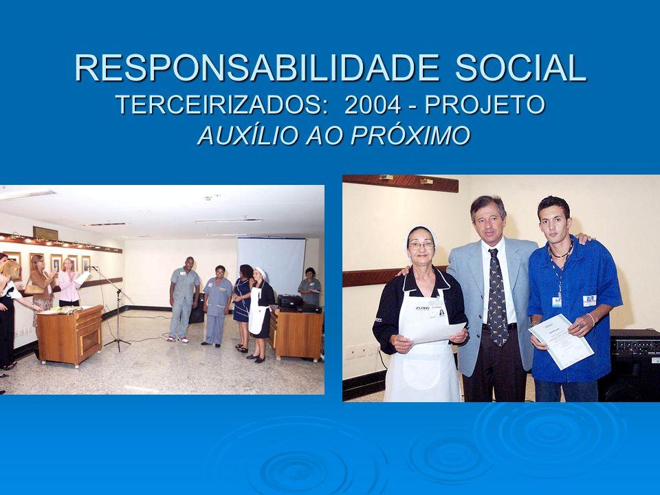 RESPONSABILIDADE SOCIAL TERCEIRIZADOS: 2004 - PROJETO AUXÍLIO AO PRÓXIMO