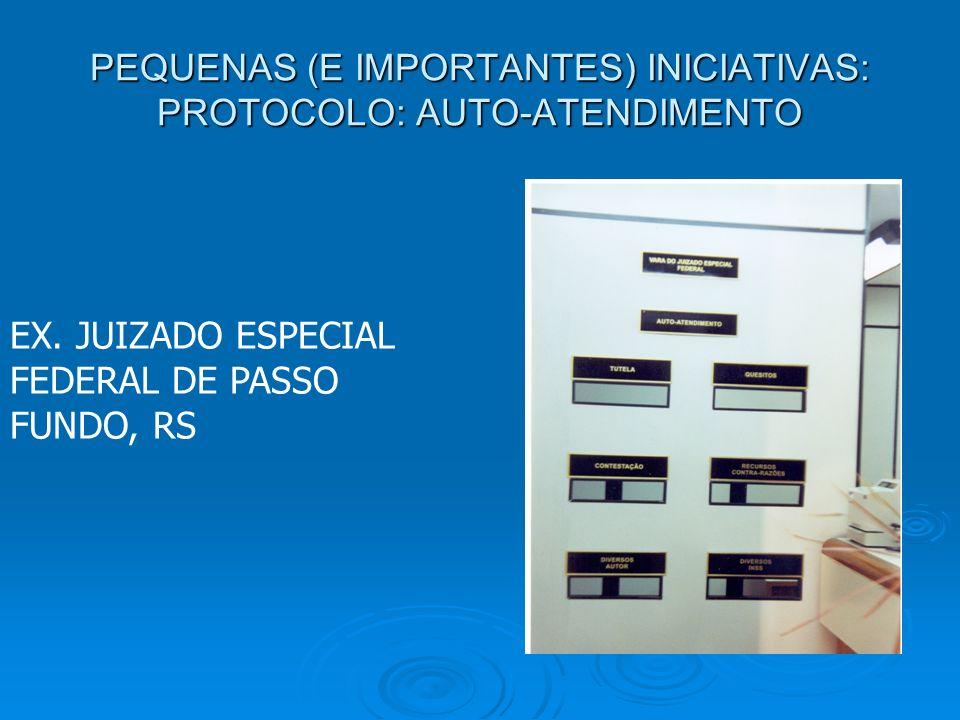 PEQUENAS (E IMPORTANTES) INICIATIVAS: PROTOCOLO: AUTO-ATENDIMENTO EX.