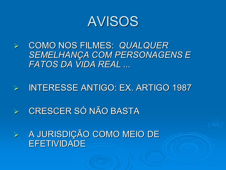 AVISOS COMO NOS FILMES: QUALQUER SEMELHANÇA COM PERSONAGENS E FATOS DA VIDA REAL...