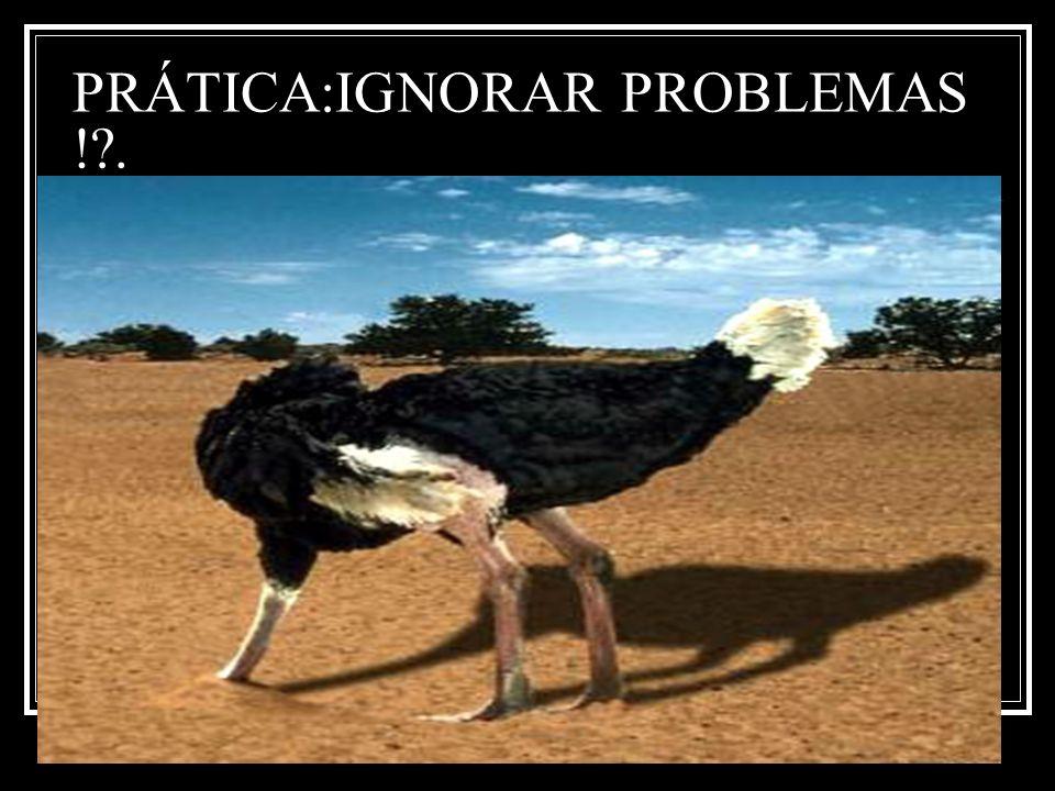PRÁTICA:IGNORAR PROBLEMAS ! .