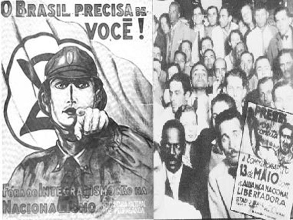 Intentona Comunista (1935) Golpe de 1937 e instalação do Estado Novo.