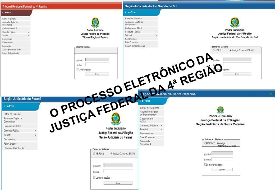 O PROCESSO ELETRÔNICO DA JUSTIÇA FEDERAL DA 4ª REGIÃO