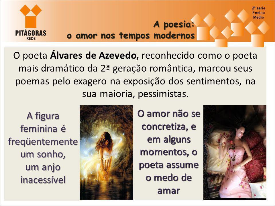 O poeta Álvares de Azevedo, reconhecido como o poeta mais dramático da 2ª geração romântica, marcou seus poemas pelo exagero na exposição dos sentimen